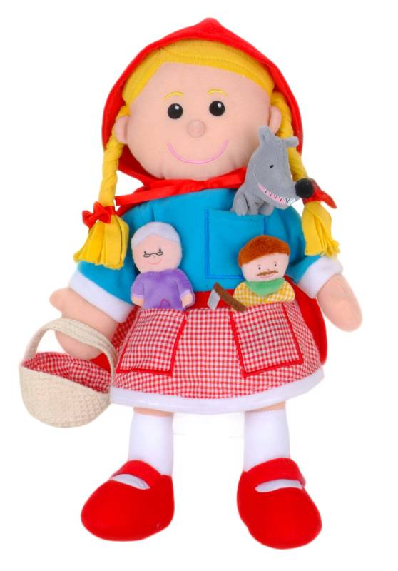 Red Riding Hood Puppets - Fiesta Crafts 1