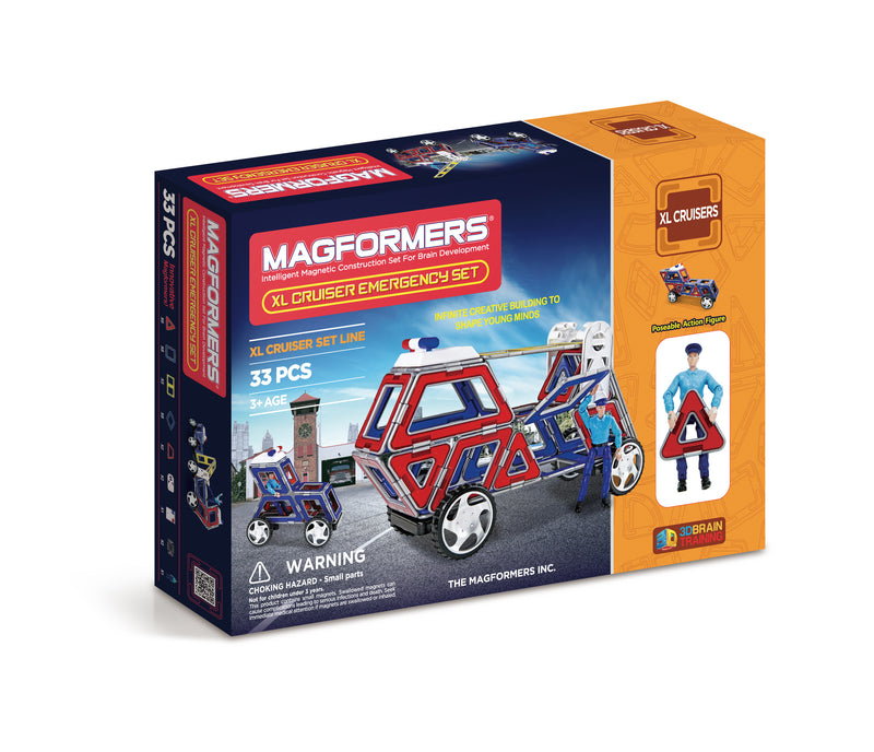 XL Cruisers Emergency Set 33pcs - Magformers