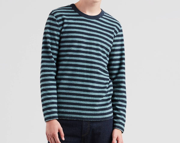 Levi's® Made & Crafted® Stripe Slub Men T-Shirt Green and Blue 559560000