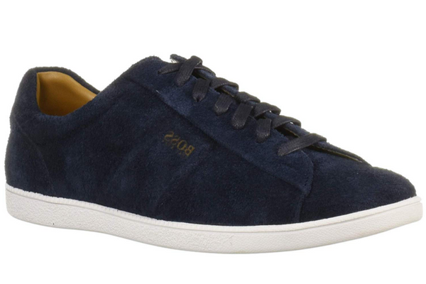 Hugo Boss tennis shoes rumba tenn sd2 dark blue suede 50407401-401