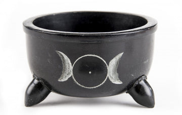 Soapstone Bowl Sun and Moon -Medium