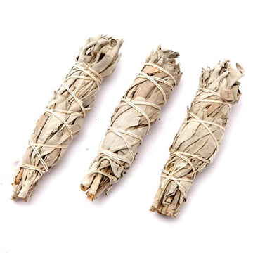 White Sage 3 Mini Smudge Sticks - 3 pack