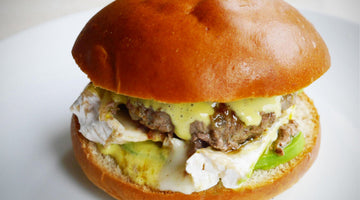 The avocado camembert burger