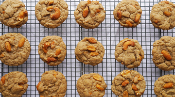 Nutty dairy free autumn cookies