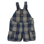 OshKosh Plaid Shortalls 18M
