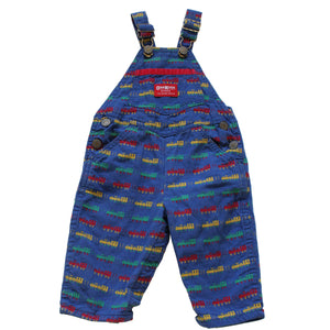 Vintage OshKosh Train Overalls  6/9 M