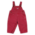 Vintage Red Denim Guess Overalls 18M