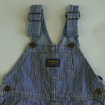 Vintage OshKosh Blue and White Engineer Stripe Overalls