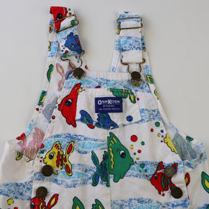 Rare Vintage Fish Shortalls