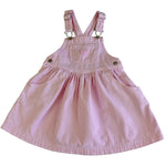 Vintage OshKosh Pink Stripe Pinafore Dress