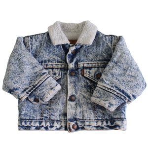 Vintage Levi's Light Denim Acid Wash Sherpa Jacket
