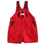 Vintage OshKosh Red and Black Shortalls
