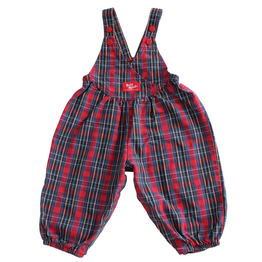 Vintage Baby B'Gosh Plaid Bubble Overalls