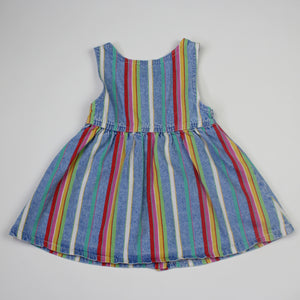 Vintage Lee Jeans Stripe Denim Dress