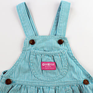 Vintage OshKosh Blue and White Stripe Bubble Shortalls