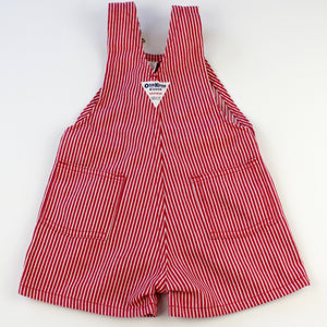 Vintage OshKosh Red and White Stripe Shortalls