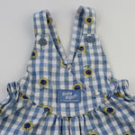 Rare Vintage OshKosh Sunflower Bubble Overalls