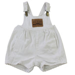 Rare Vintage Guess White Denim Shortalls