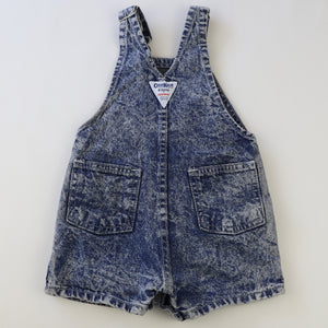 Vintage OshKosh Denim Acid Wash Shortalls