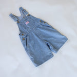 Vintage OshKosh Light Denim Shortalls Size 4