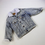 Vintage Levi's Light Denim Acid Wash Sherpa Jacket Size 7