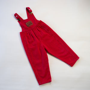 Rare Vintage Guess Red Overalls Size 3Y