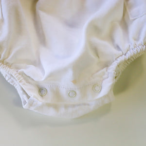 Rare Vintage Guess White Denim Bubble Romper Size 9 Months