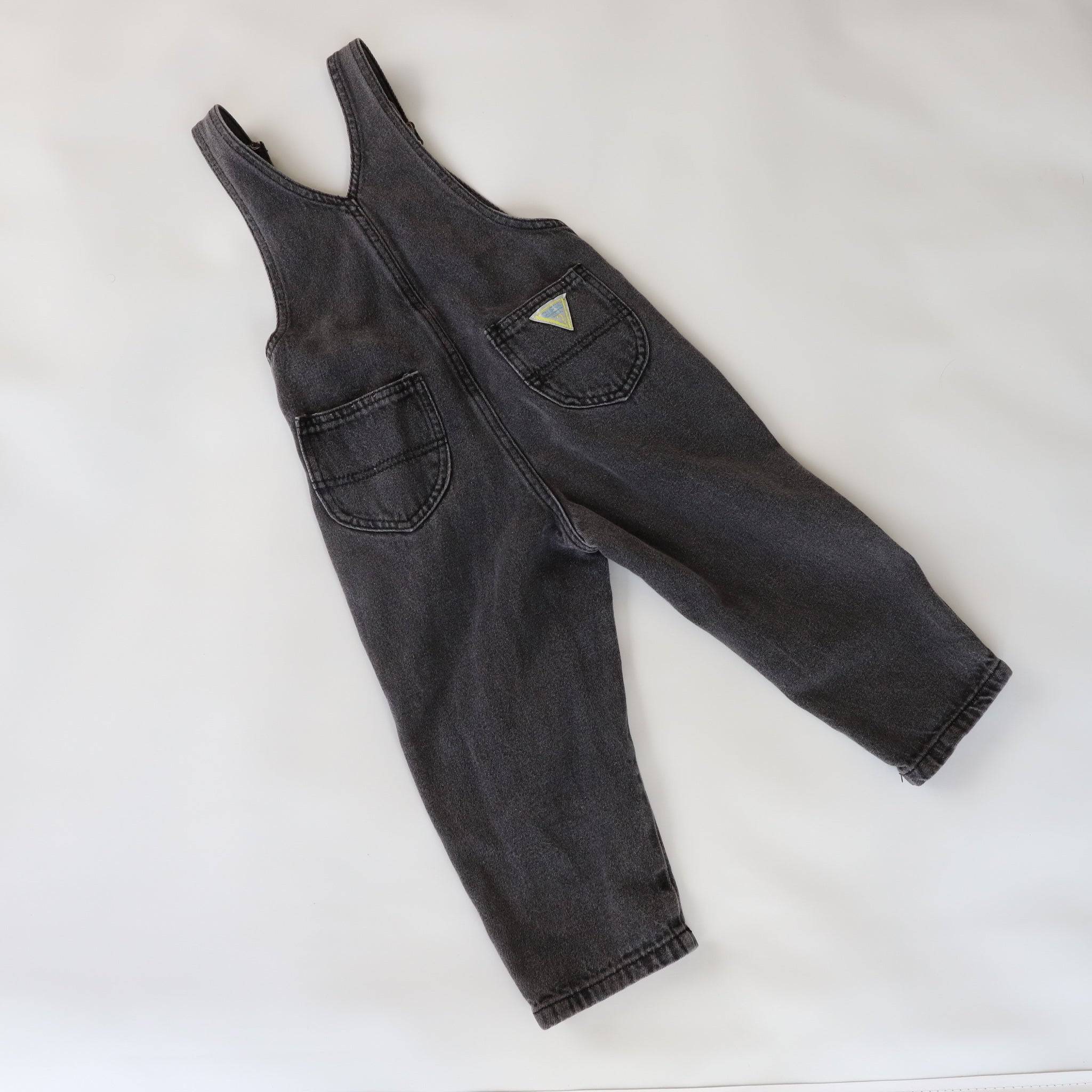 Vintage Guess Black Denim Overalls Size 3Y