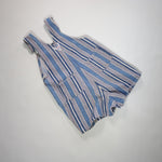 Vintage OshKosh Grey and Blue Stripe Denim Shortalls Size 4T