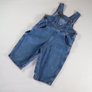 Vintage Guess Light Denim Carpenter Overalls Size 12 Months