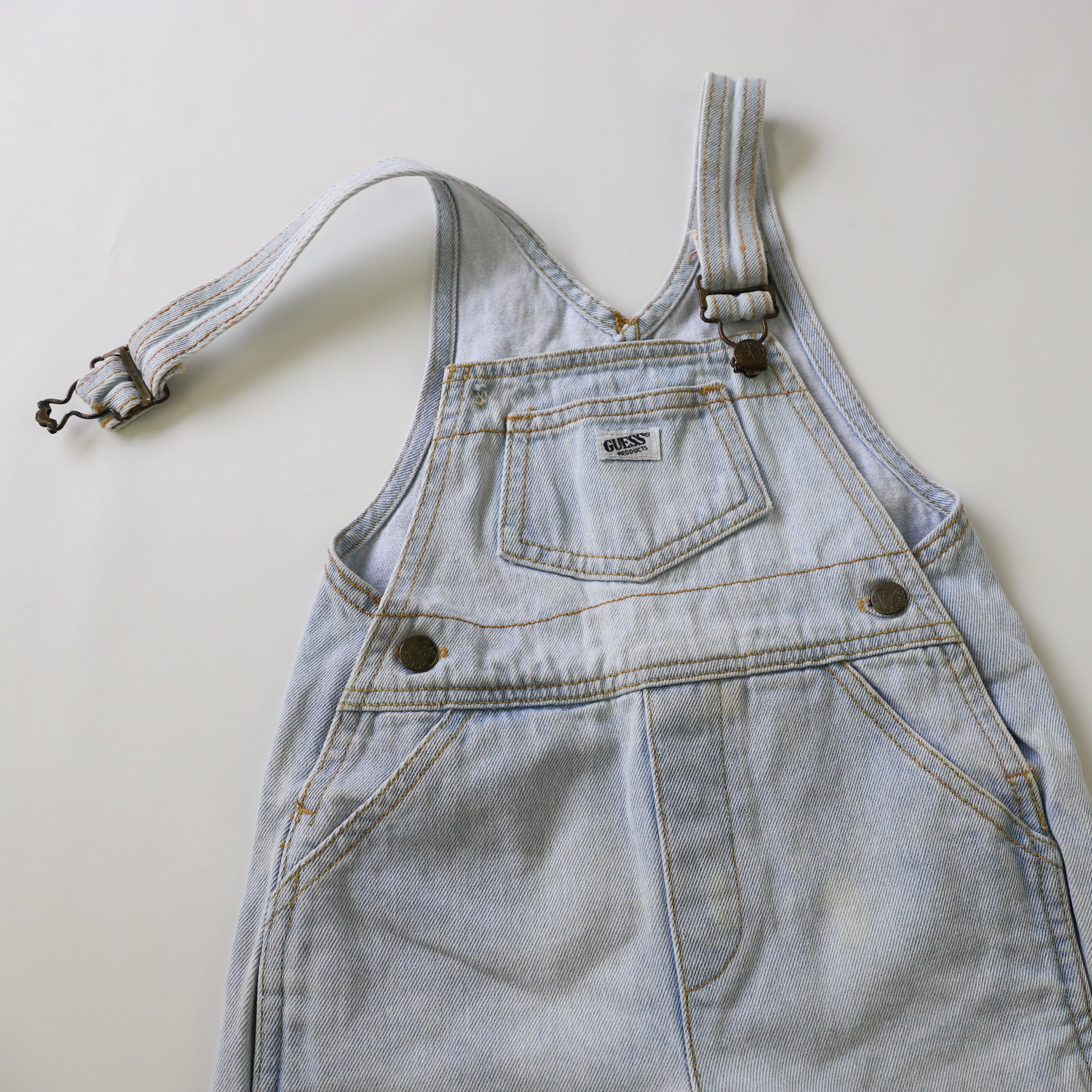 Vintage Guess Light Denim Shortalls Size 2Y