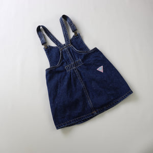 Vintage Guess Leather Label Denim Pinafore Toddler