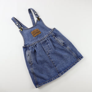 Vintage Guess Medium Wash Denim Pinafore Size 5