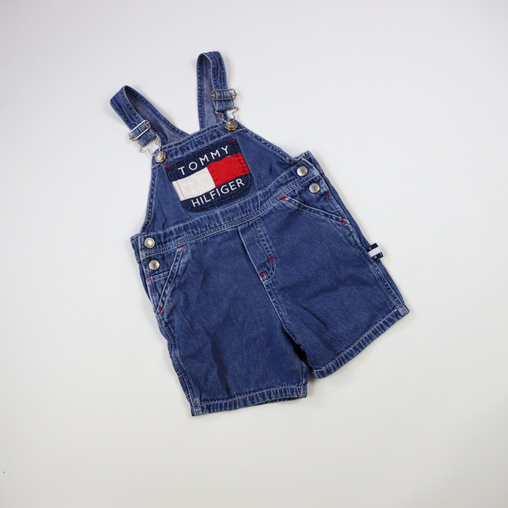 Vintage Tommy Hilfiger Spell Out Shortalls Size 2T