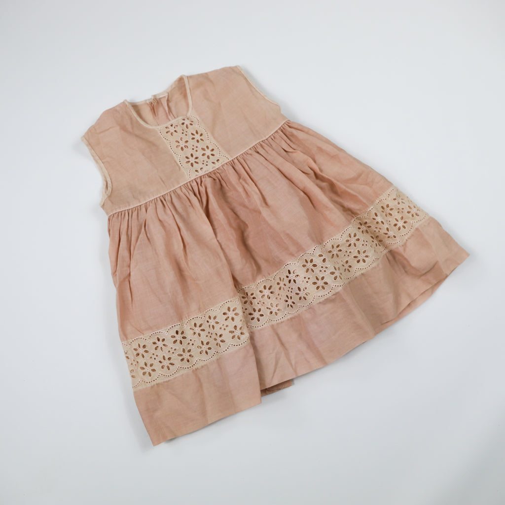 50s Overdyed Lace Dress Size 18 Months