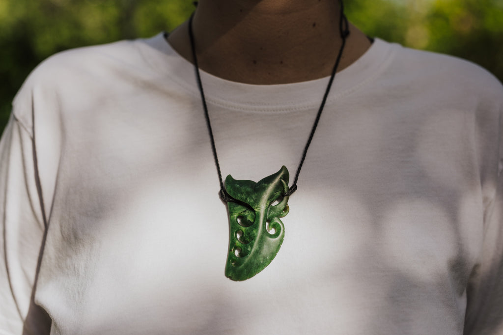 Greenstone Tooth Necklace