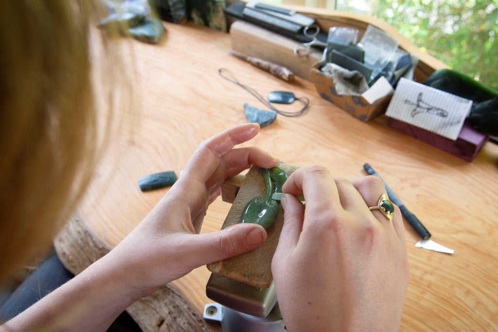 greenstone jewellery carving by josey coyle
