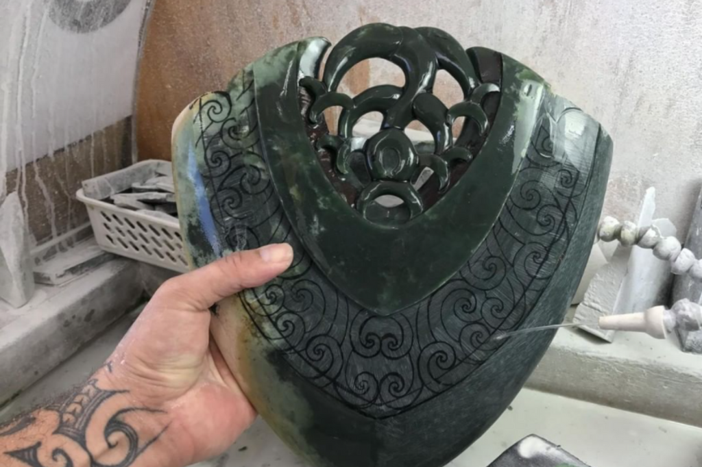 pounamu art sculpture by tama walker