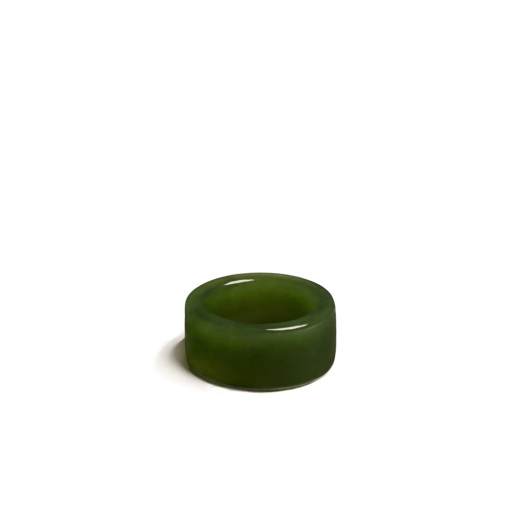 New Zealand Greenstone Band Ring Size Q