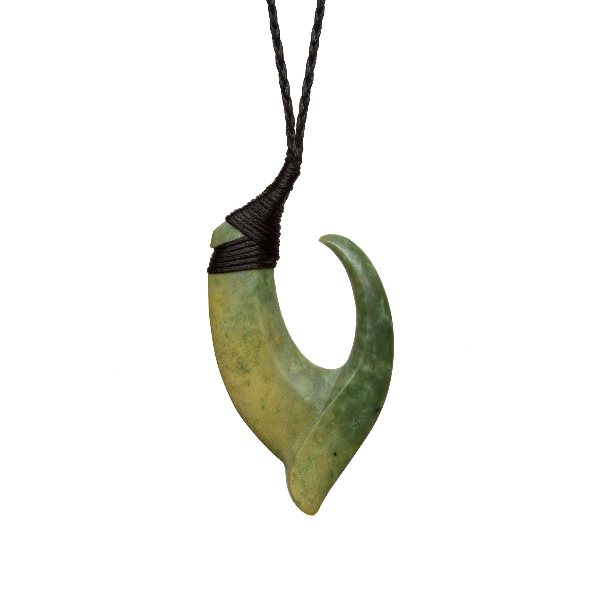 New Zealand Pounamu Pointed Hook
