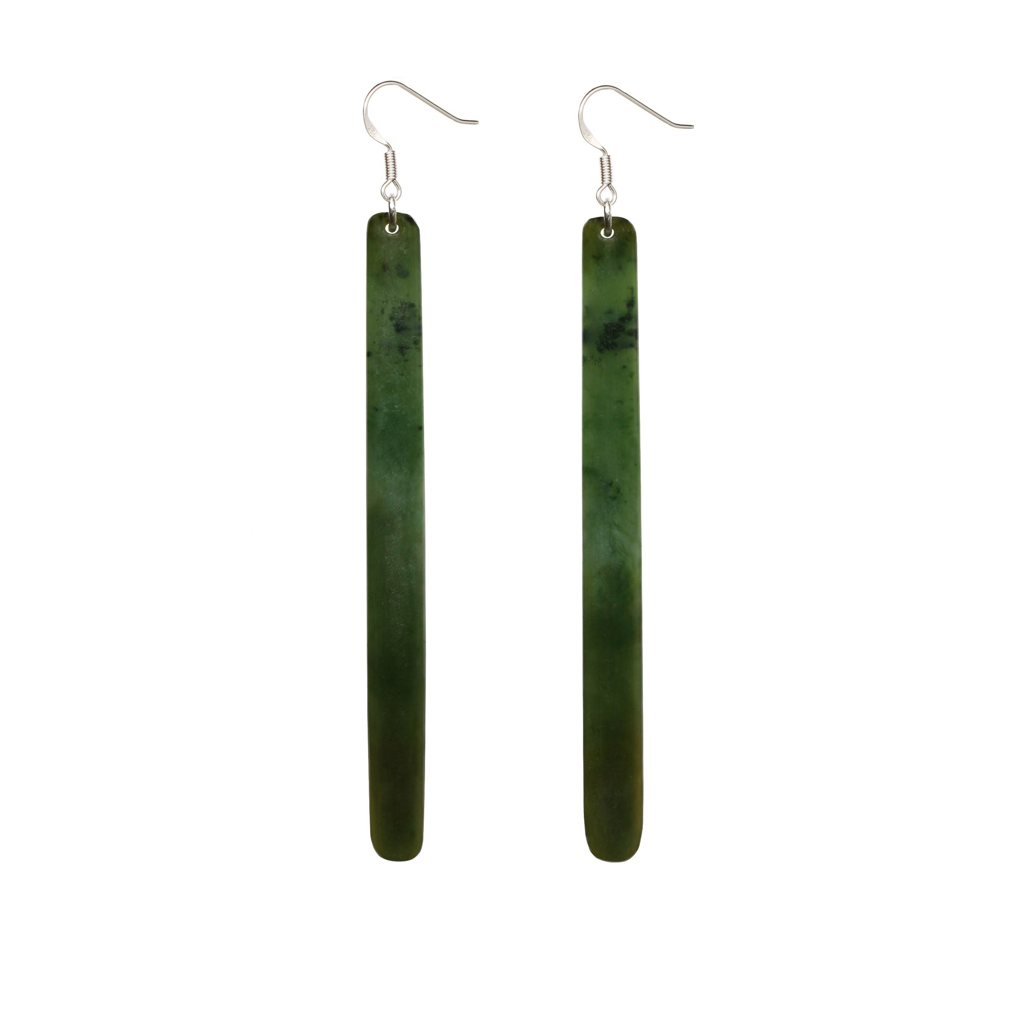 New Zealand Pounamu Long Earrings