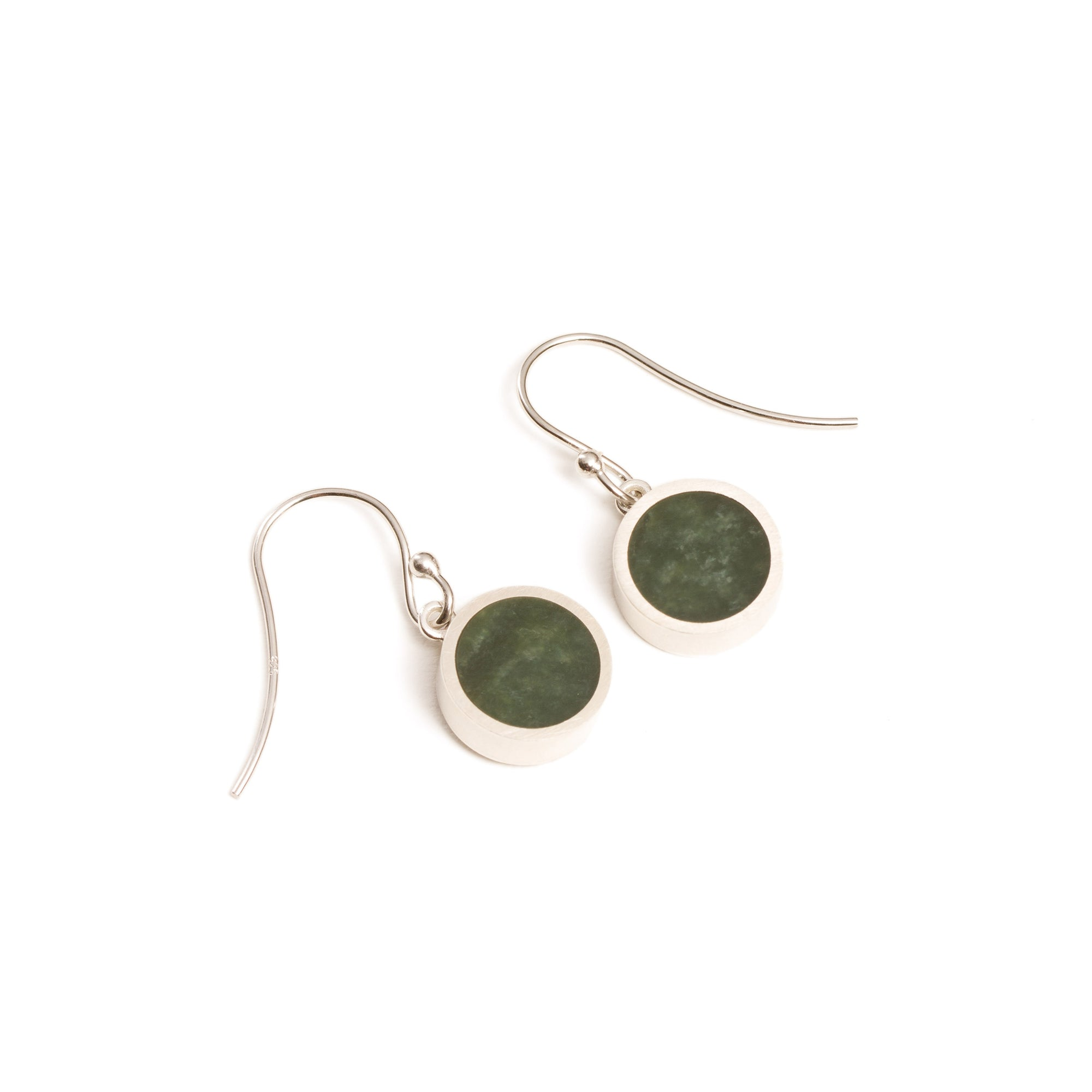 New Zealand Greenstone Small Round Drop Earrings