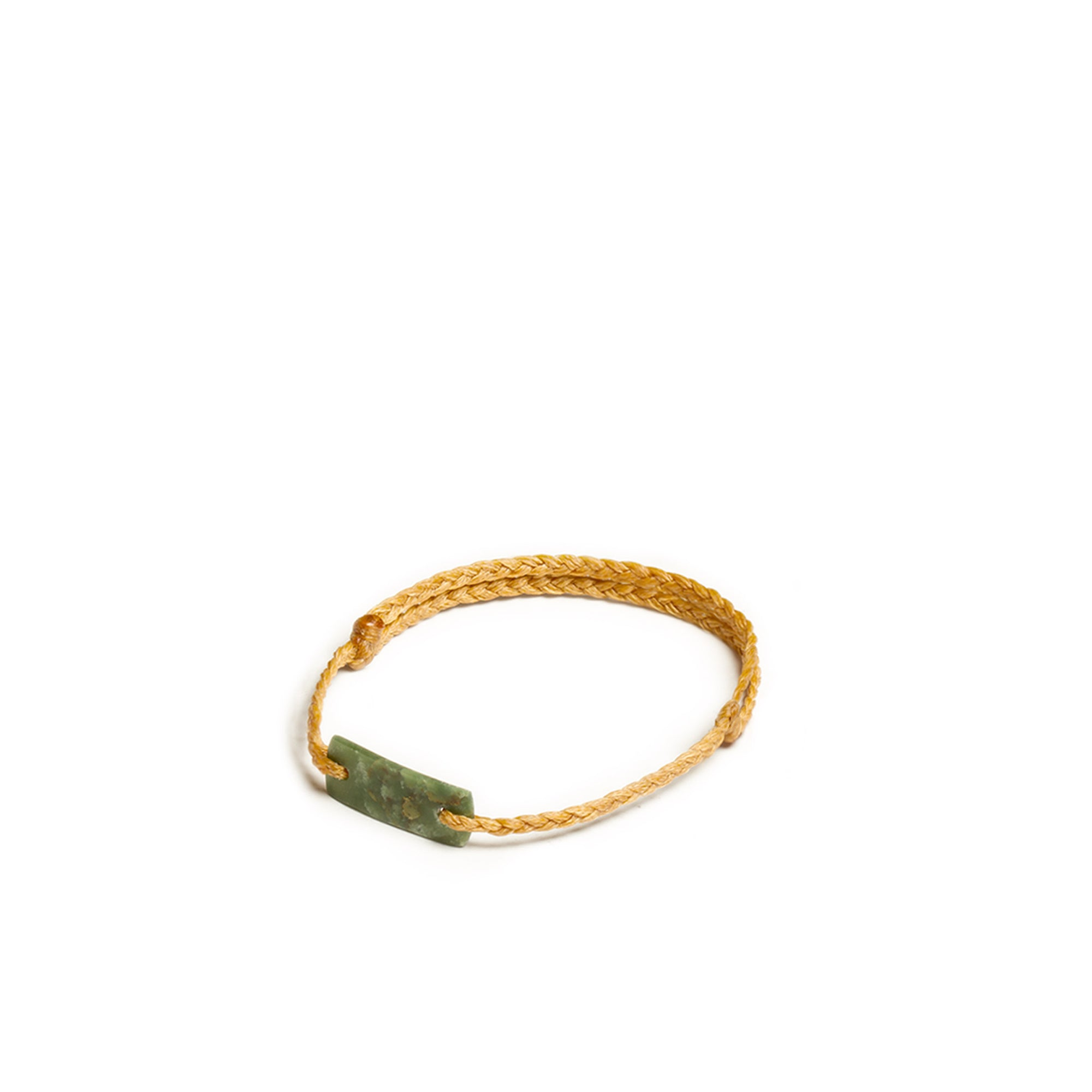 New Zealand Jade Mini Mustard Plaited Bracelet