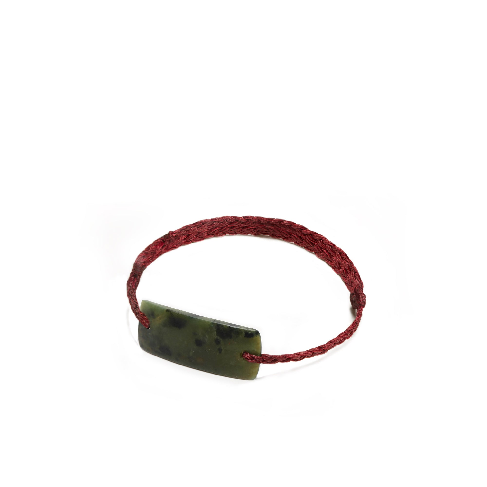 New Zealand Jade Red Plaited Bracelet