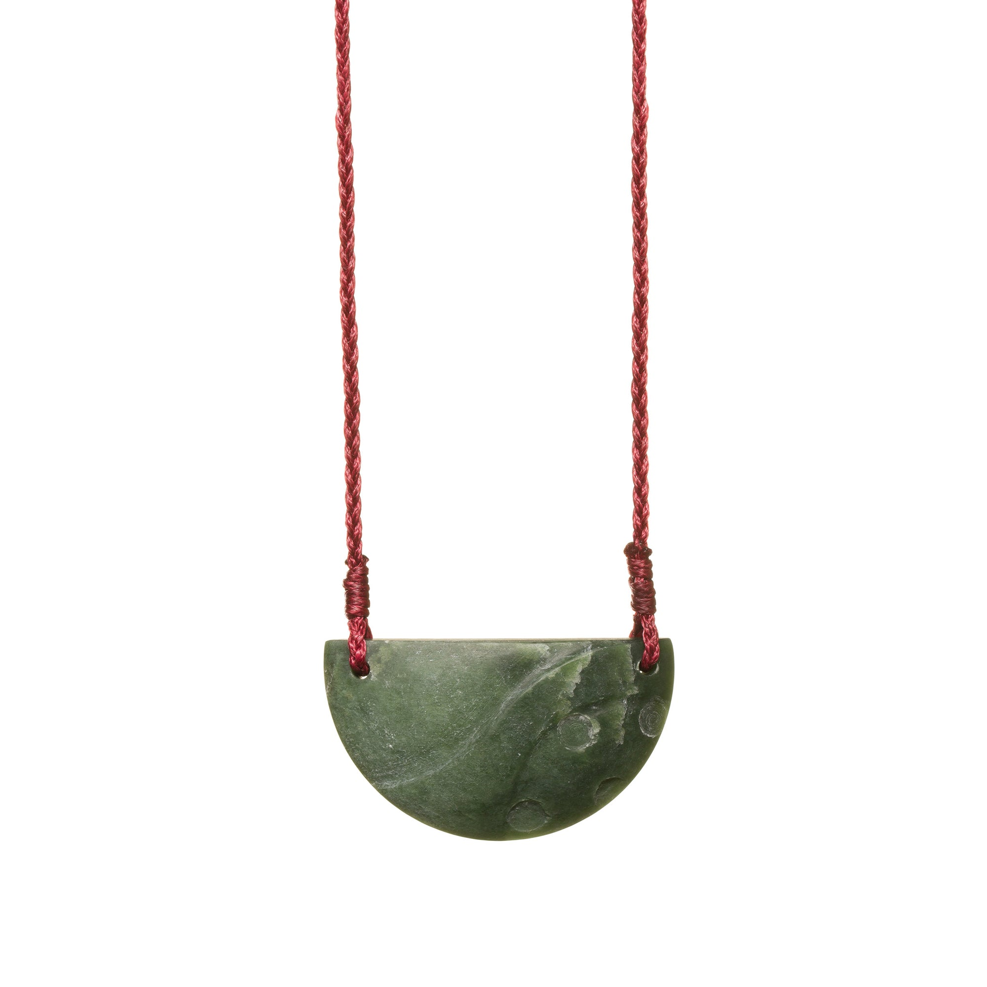 New Zealand Jade Half Circle Pendant