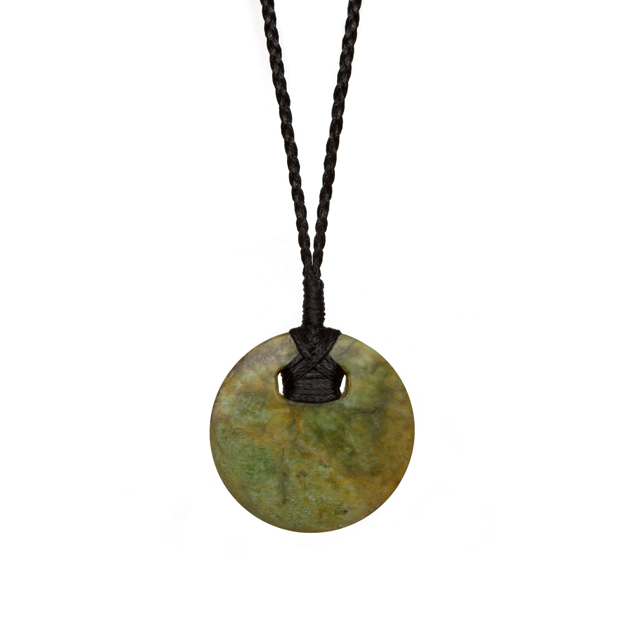 New Zealand Pounamu Disc Pendant