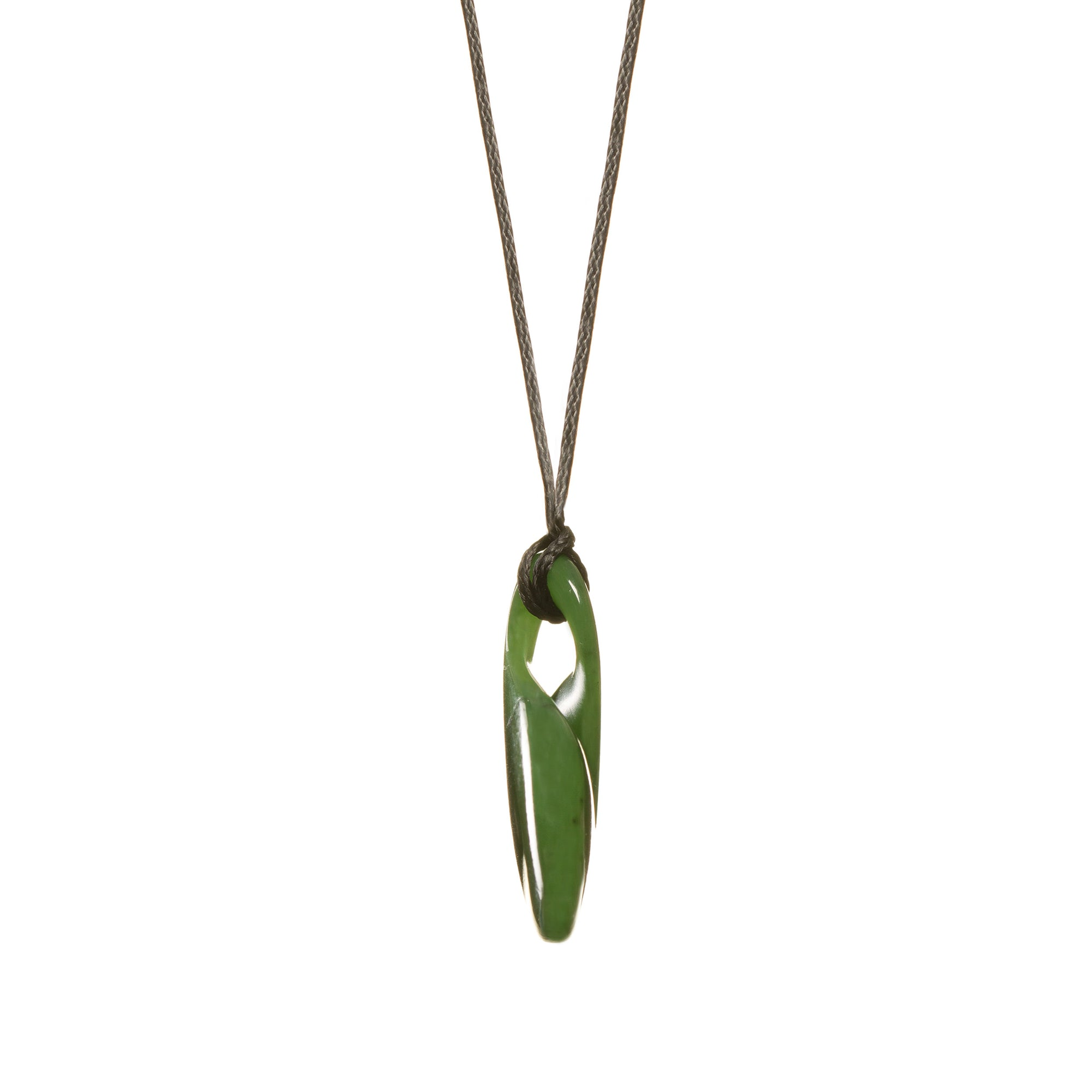 New Zealand Greenstone Wide Infinity Necklace