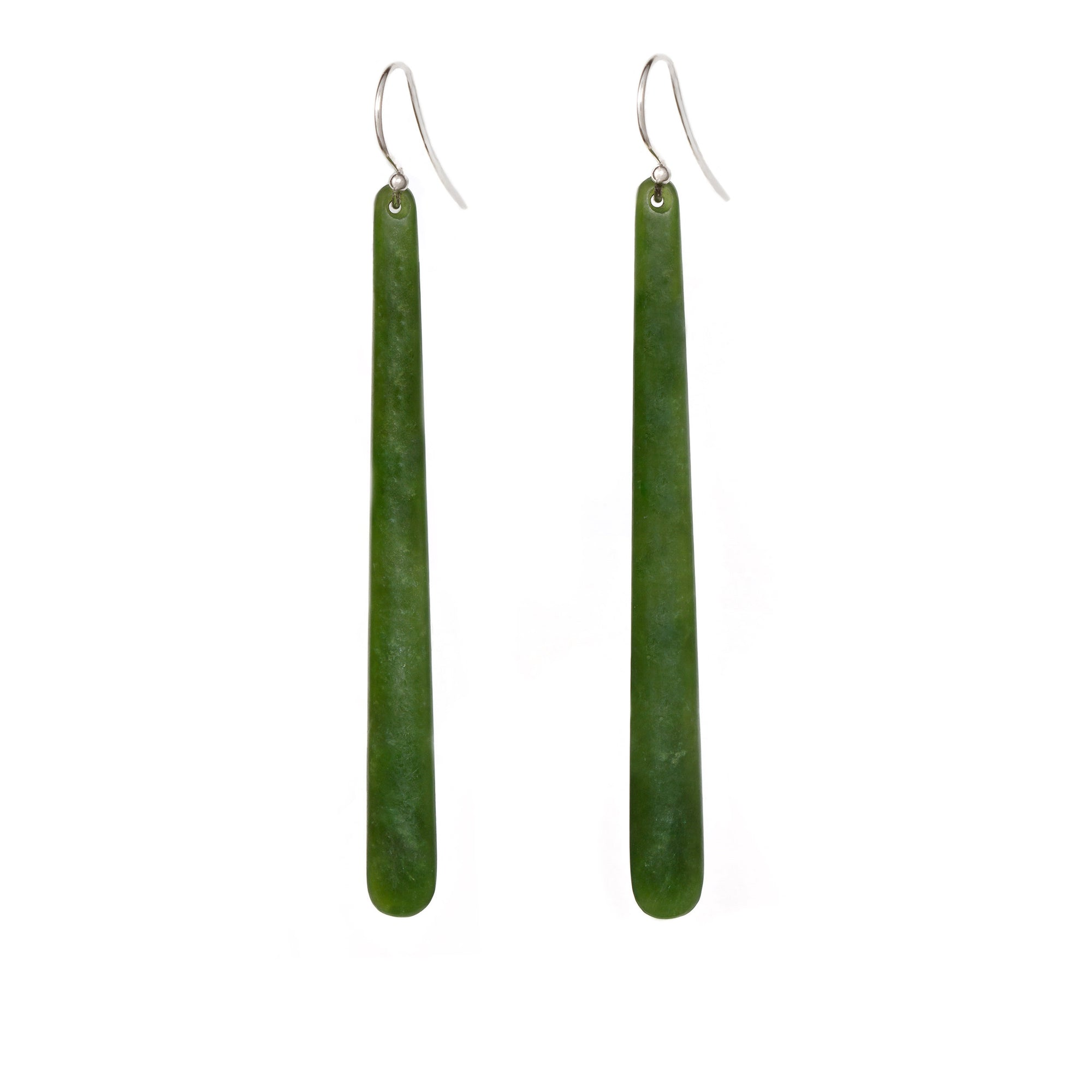 New Zealand Pounamu 80mm Earrings