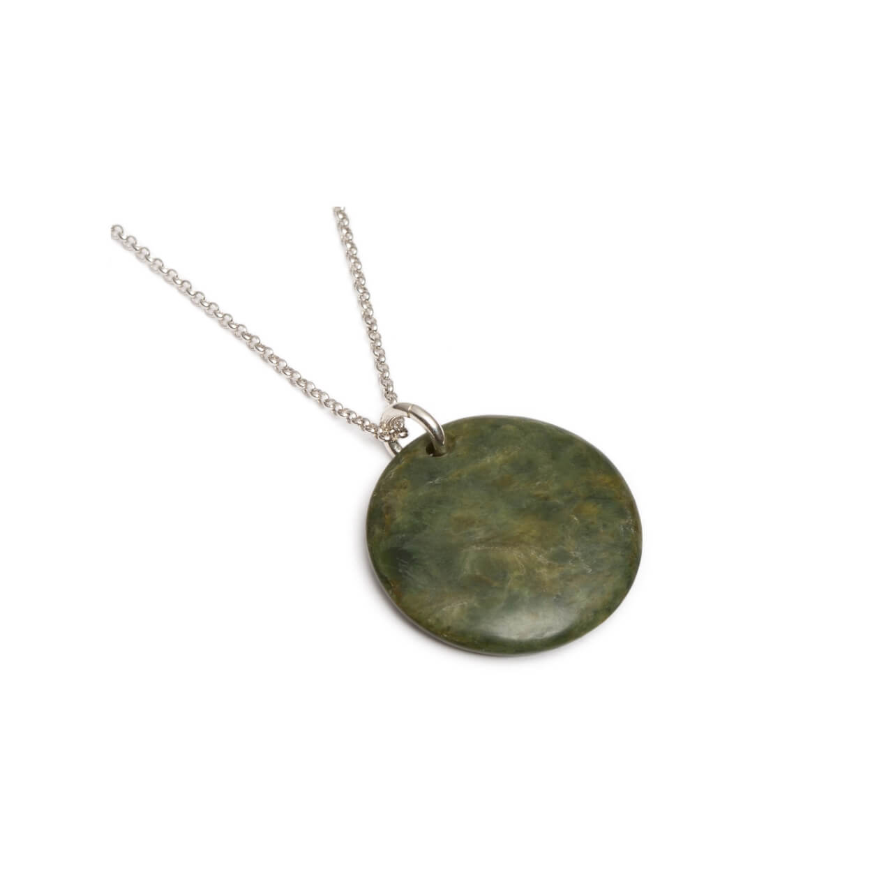 New Zealand Jade Disc Necklace
