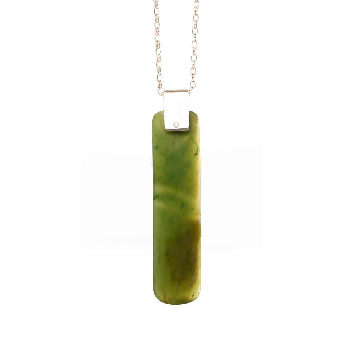 Canadian Jade Slender Rivet Adze Necklace